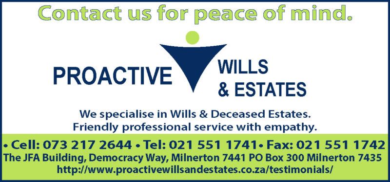Proactive Wills and Estates specialising in Wills and Deceased Estates